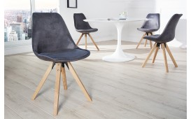 4 x Designer Stuhl SCANIA ANTIK GREY