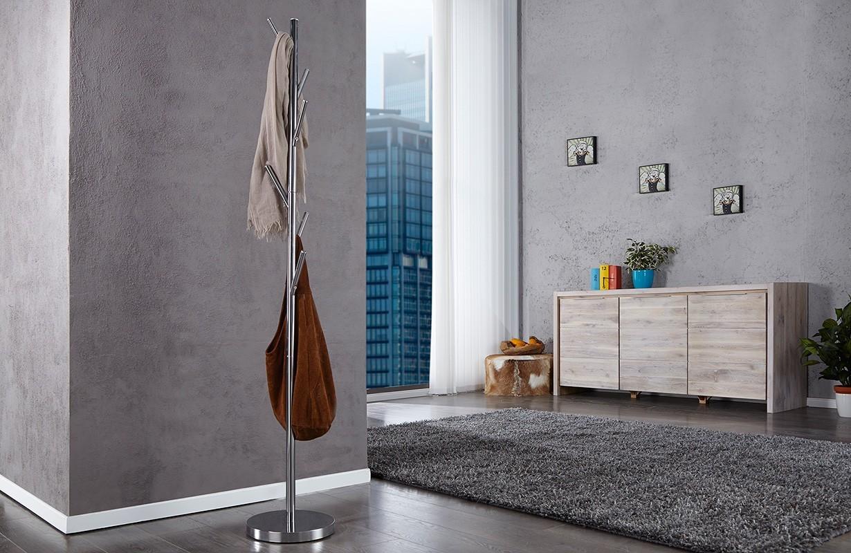 porte manteau design simple chrom nativo meuble moderne. Black Bedroom Furniture Sets. Home Design Ideas