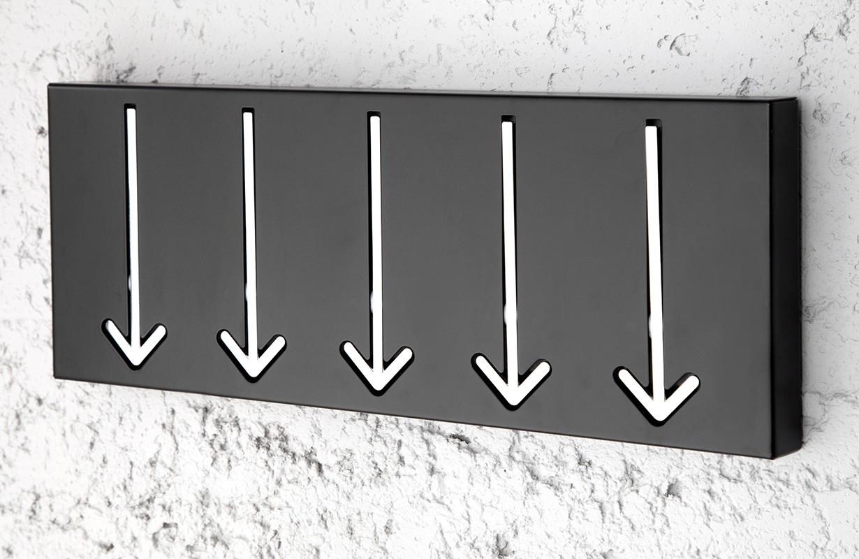 Credenza Moderna Corridoio : Attaccapanni ticino multi black nativo mobili corridoio