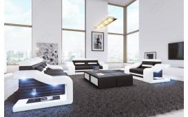 Designer Sofa MIRAGE 3+2+1 mit LED Beleuchtung