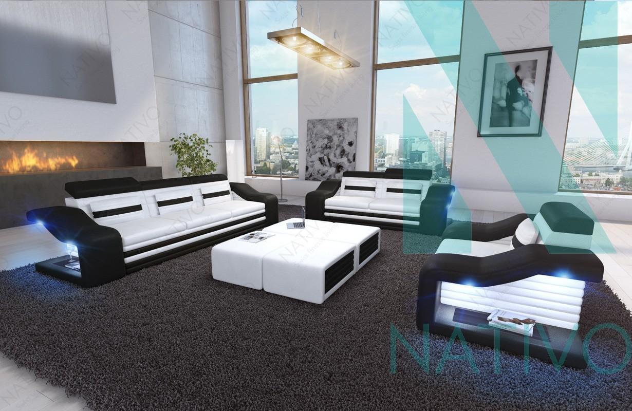 Designer Ledersofa MIRAGE 3+2+1 bei NATIVO Möbel Schweiz online kaufen