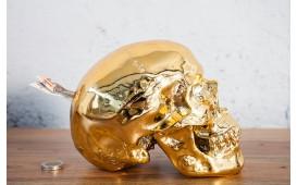 Designer Spardose SKULLY GOLD von NATIVO in der Schweiz