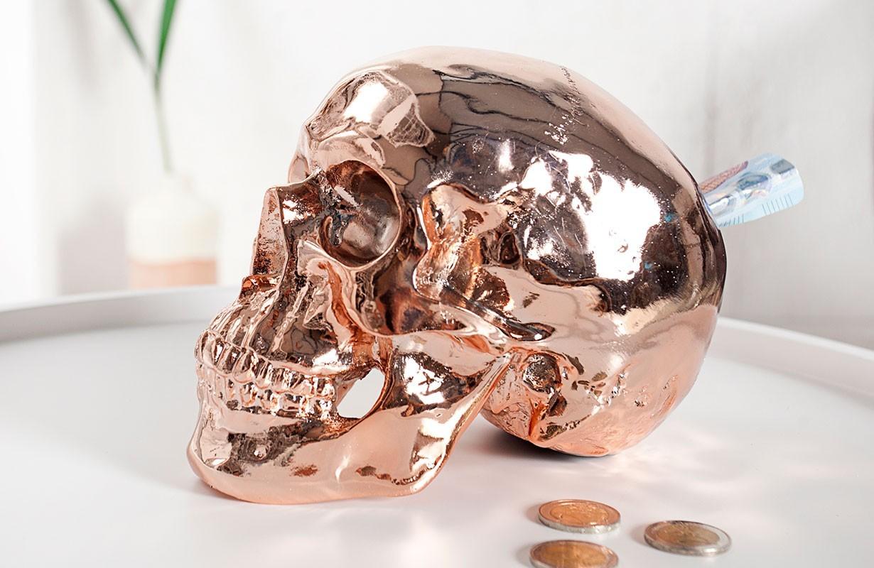Nativo designer deko skully copper in der schweiz bei for Accessoires deko babyzimmer
