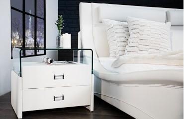 Comodino Ticino NEW YORK WHITE NATIVO mobili camre da letto