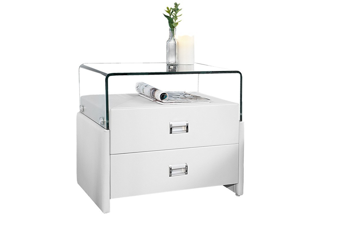 Comodino ticino new york white nativo mobili camre da letto for Mobili di design new york