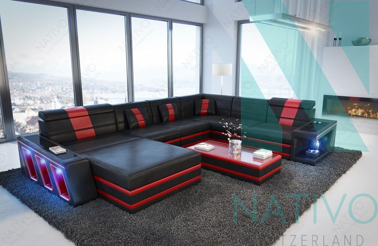 modernes ledersofa carezza xxl bei nativo m bel schweiz. Black Bedroom Furniture Sets. Home Design Ideas