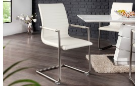 Chaise Design RICHY WHITE - EN STOCK