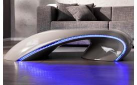 Designer Couchtisch ORBIT GREY mit LED Beleuchtung
