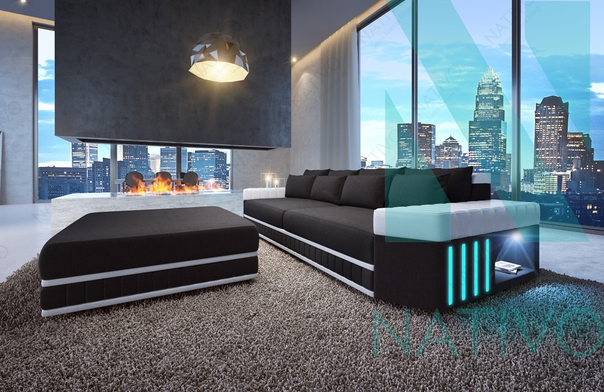 ecksofa mit led beleuchtung interesting big sofa led with ecksofa mit led beleuchtung elegant. Black Bedroom Furniture Sets. Home Design Ideas