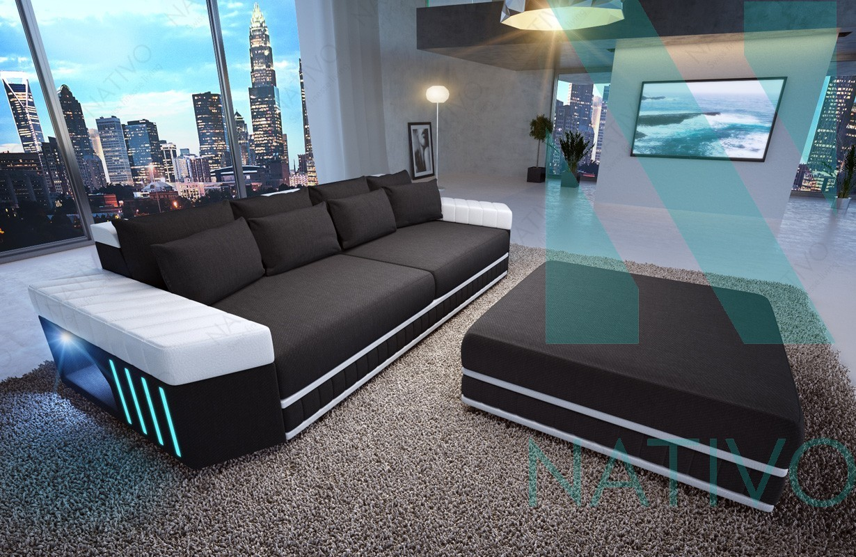 ledersofa big sofa skyline bei der nativo m bel schweiz. Black Bedroom Furniture Sets. Home Design Ideas