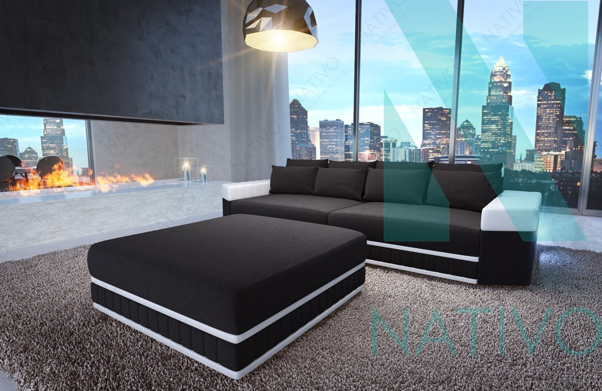 ecksofa mit led moderne ecksofa weiss mit led beleuchtung im wohnzimmer with ecksofa mit led. Black Bedroom Furniture Sets. Home Design Ideas