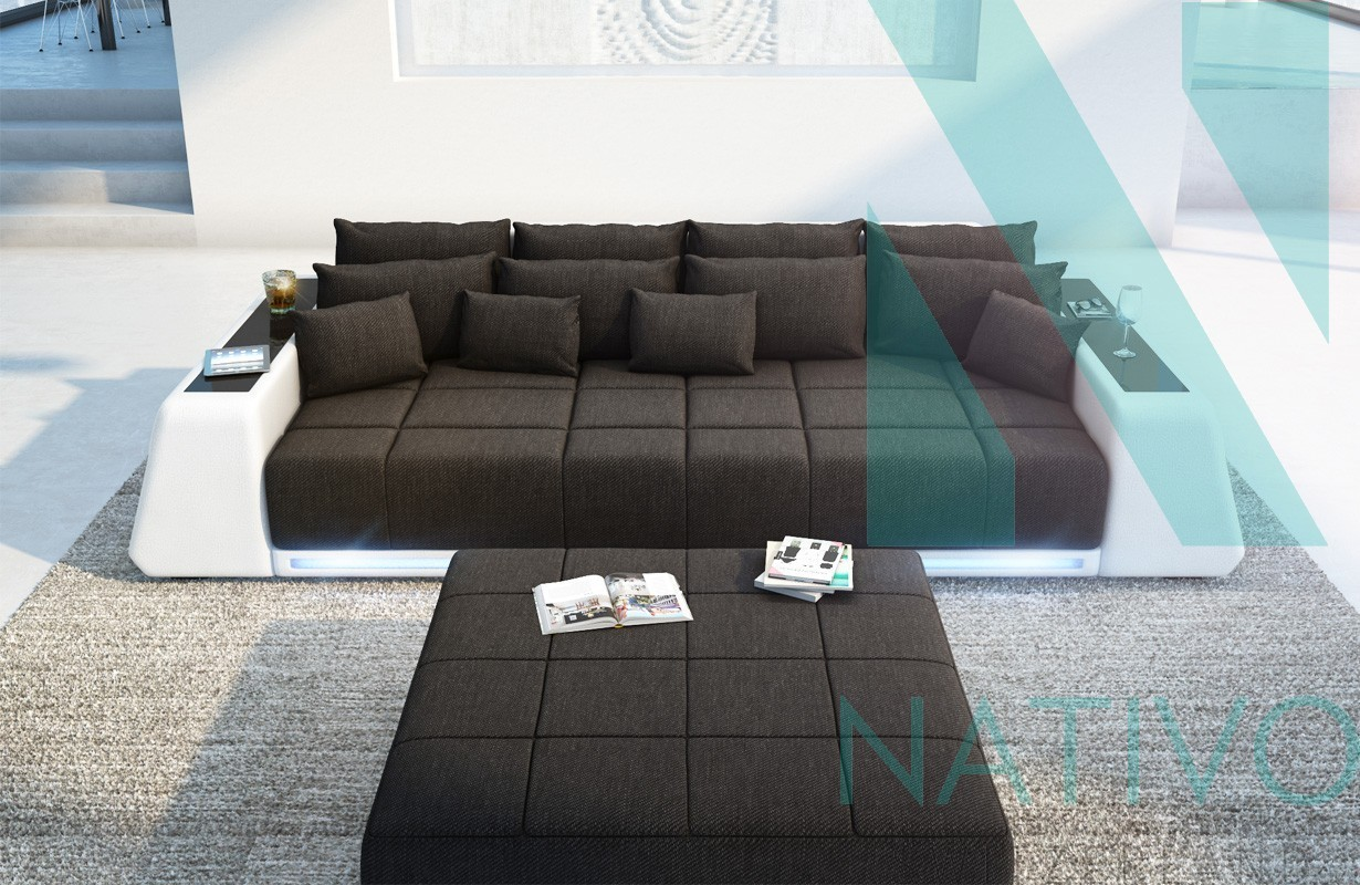 edles ledersofa big sofa vice bei nativo m bel schweiz g nstig kaufen. Black Bedroom Furniture Sets. Home Design Ideas
