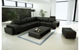 Canapé Design EDEN avec 2 tabourets et une table basse