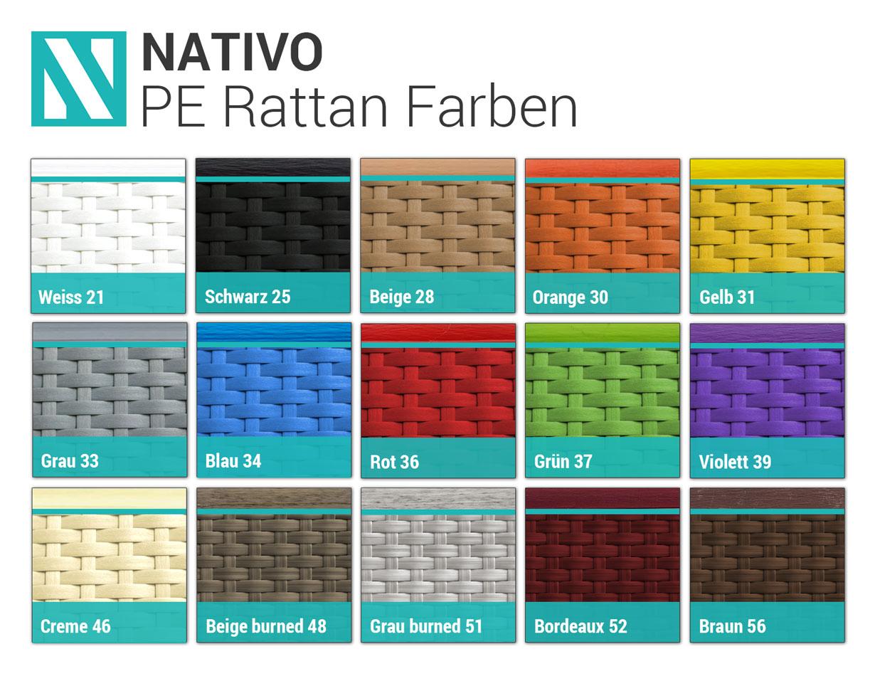 Rattan Farben